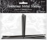 Amscan Metal Stakes for Styrofoam Halloween Tombstone Decorations, Package of 6