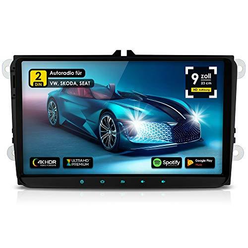 NEOTONE WRX-990A ANDROID 10 Autoradio für VW | Skoda | Seat | 4GB Ram | 32GB Rom | Navi mit Europakarten | 9 Zoll | DAB+ Unterstützung | USB | WLAN | Bluetooth | MirrorLink | RDS | OBDII Unterstützung