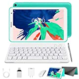 2 in 1 Tablet with Keyboard Mouse, Android 10.0 Tablets 3GB RAM 32GB ROM 128GB Extended, 4 Core 1.6Ghz CPU, Dual Camera, 8 Inch WiFi Tablet PC (Green)