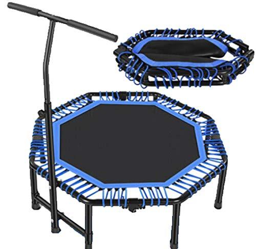 SPOLY Trampoline met leuning, Indoor Fitness Trampoline Verstelbare Opvouwbare Mini Trampoline Oefening Trampoline Rebounder voor Kinderen Volwassenen
