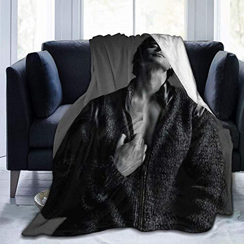 Damon-Salvatore Weiche und Bequeme Decken, Ultra-Soft Micro Fleece Decke, für Bett oder Sofa, Ganzjahres-Wurfdecken 50x40 Zoll