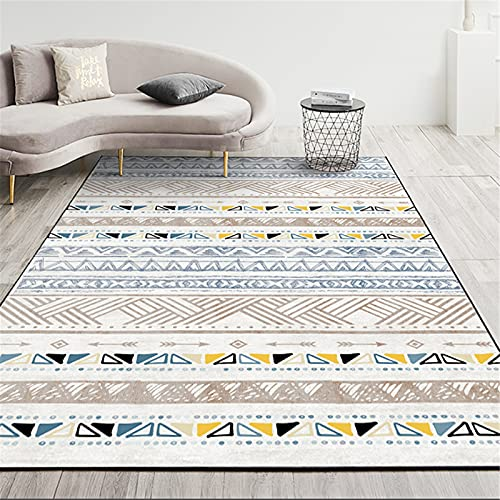 MMHJS Home Tappetino da Soggiorno in Stile Marocchino Tappeto Grande Rettangolare Tappeto da Comodino in Stile Etnico 120x160cm