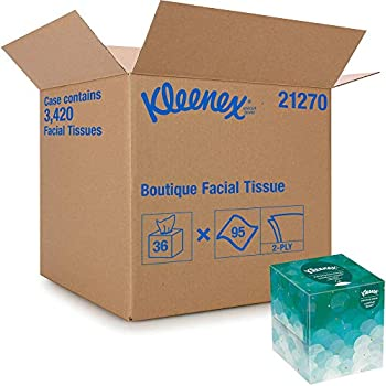 Kleenex Professional Facial Tissue Cube for Business  21270  Upright Face Tissue Box 36 Boxes/Case 95 Tissues/Box 3,420 Tissues/Case