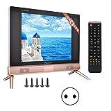 Wosume TV Mini TV ultradelgada Televisor LCD HD Resolución de 17 Pulgadas Sonido estéreo(Enchufe de la UE)