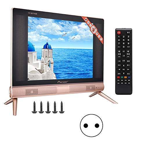 ASHATA 17-inch HD-LCD-televisie draagbare HD-tv 1366 x 768 met afstandsbediening HDMI en USB- en VGA-aansluiting ingebouwde basluidspreker, TV Freenet