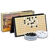 Zavddy Go Bang Go Board Set - Praktische, magnetische, Konvexe Einzelsteine - Reisebereit for Kinder und Erwachsene Brettspiel Strategiespielbrett (Farbe, Size : 28 * 28 * 3cm) -
