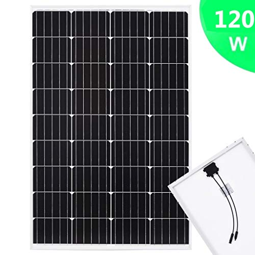 Festnight Solarmodul 50 W Monokristallin Aluminium und Sicherheitsglas Solar Polykristallin Solarzelle