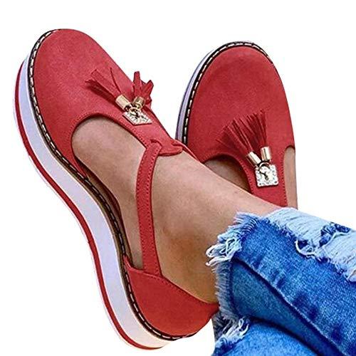jdiw Mujer Sandalias Planas Shoes Cuero Confort Baotou Borla Hebilla Sandalias De Ocio Mules Calzado Antideslizantes Resistentes Loafer