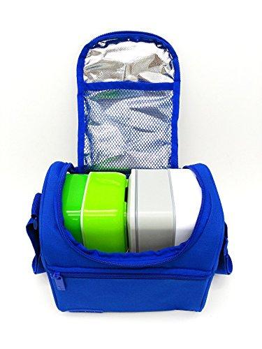 51XdaZE8b2L - Leyendas Bolsa Térmica Porta Alimentos Comida Almuerzo Oferta Color Liso o con Dibujo 6 litros (Azul)