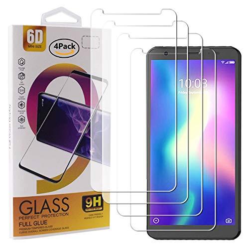 Guran 4 Paquete Cristal Templado Protector de Pantalla para ZTE Blade A5 2019 Smartphone 9H Dureza Anti-Ara?azos Alta Definicion Transparente Película