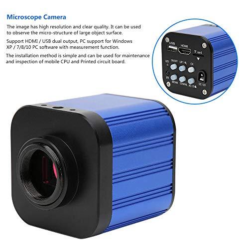 Industrie-Mikroskopkamera, 4k HDMI HD USB-Mikroskopkameraobjektiv, tragbare High Definition-Digitalmikroskopkamera mit Fernbedienung, für Trinokularmikroskop, 100-240 V(1#)