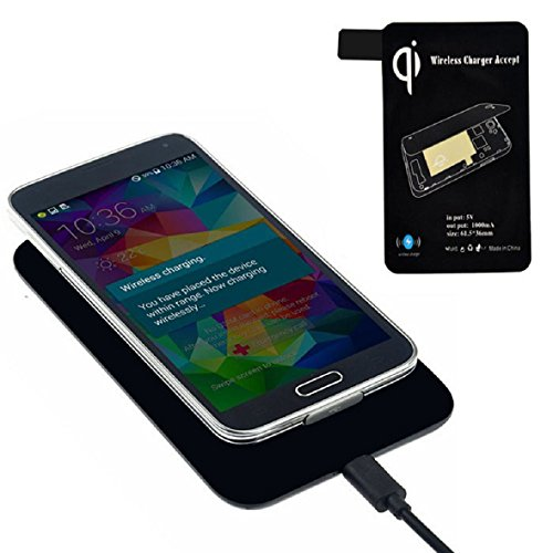 Tonsee Qi Standard Wireless Charger + Receiver Tag for Samsung Galaxy S5 I9600 G900