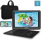 Pumpkin 16 Pouce Lecteur DVD Portable Voiture Grand Ecran pour Enfant Supporte HDMI Input,Vidéo Full HD,AV in/Out,USB...