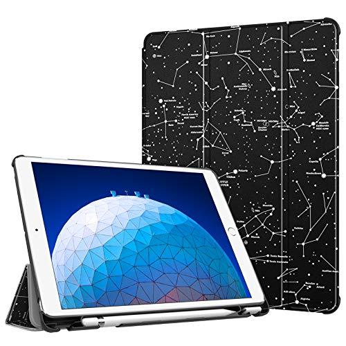 """FINTIE Funda para iPad Air 10.5"""" (3.ª Gen) 2019/iPad Pro 10.5"""" 2017 con Soporte Incorporado para Pencil - Súper Ligera Carcasa Protectora con Función de Auto-Reposo/Activación, Constelación"""