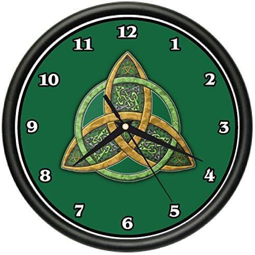 Celtic Trinity Knot Wall Clock Symbol Irish Scottish Culture Tradition Gift