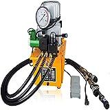 Bomba hidráulica eléctrica de 7 litros, 220 V, con válvula manual, 70 MPA, bomba hidráulica eléctrica de 50 Hz