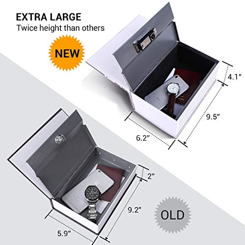 """Diversion Book Safe, Ohuhu Extra Large Multi-Use Metal Book Safe with Combination Lock, Stash Safe Box, Secret Safe Containers for Money, Jewelry Documents or Valuables 8.9"""" x 5.7"""" x 3.9"""" Photo #7"""