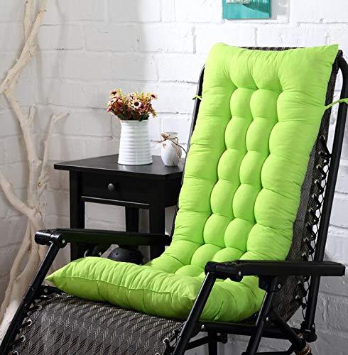 Marbeine Matelas Coussins pour Chaise Longue, Coussin de Chaise Coussin Mat pour Chaise Fauteuil de Relax Transat de Jardin Terrasse 48 * 125 * 8cm (Vert)