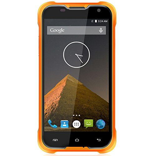 Bestore® Blackview BV5000 IP67 impermeabile 4G LTE dual-SIM Smartphone (da 5 pollici, Android 5.1, RAM 2GB ROM 16GB, 8,0 fotocamera megapixel, 4G Smartphone) Giallo
