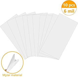 WONGYEE Mylar Blank Stencil Sheets Reusable Blank Templates-Make Your Own Stencil 6 Mil 10 Pack (12 X 24 Inch)