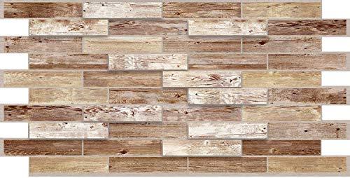 Paneles 3D de PVC – Medidas 973 x 492 mm – Paquete de 10 unidades – Aplicación fácil – Ideal para decorar el interior de casa – Panello – Cód. 1591
