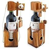 Bottiglia puzzle di vino birra - cassaforte puzzle di legno