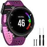 GVangel Correa compatible con Garmin Forerunner 235, correa de repuesto de silicona suave para reloj...
