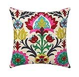 No branded Waverly - Funda de almohada, diseño de Santa María, color rosa, fucsia, azul marino, verde esmeralda, floral, cojín lumbar, cojín Euro Sham