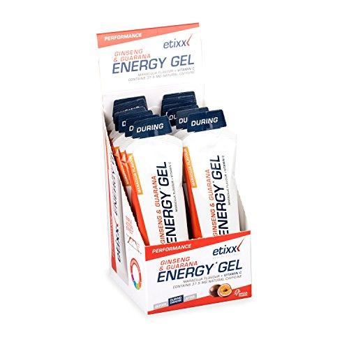 Etixx Ginseng & Guarana Energy Gel Maracuja - Paquete de 12 x 50 gr - Total: 600 gr