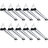 Sunco Lighting 10 Pack Industrial LED Shop Light, 4 FT, Linkable Integrated...