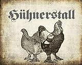"""""""Hühnerstall"""" Metallschild / Blechschild / Dekoschild / Wandschild"""