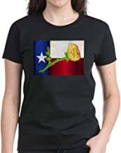 CafePress Texas Yellow Rose T Shirt Womens Cotton T-Shirt