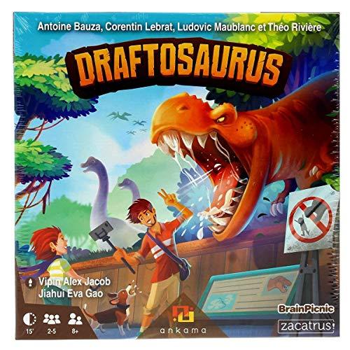 Zacatrus!- Draftosaurus Juego de Mesa, Color azúl, Verde (ZAC036)