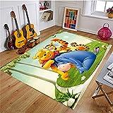 Xuejing Carpet Child Rug Rectangular Bedroom Study Living Room Cartoon Anime Winnie The Pooh Bedside Cloakroom Home Decoration Floor Anti Skid