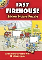 Easy Firehouse Sticker Picture Puzzle (Dover Little Activity Books)