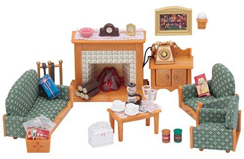 Sylvanian Families Deluxe Living Room Set Mini muñecas y Accesorios,
