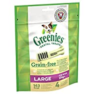 Greenies Daily Grain-Free Large Dog Treats (from 23 kg+) – The Smart Dental Treat – 6 x 170 g - 24 C...