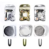 ROSALIND gel nail polish mirror effect powder chrome-plated sequins 3 units