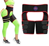 Waist Trainer for Women, Butt Lifter and Hips, Thigh Trimmers Eraser Shapeware Booty Belt (RED, Small)