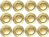 finemark 12 Stück Platzteller Gold Unterteller Dekoteller Durchmesser 33 cm