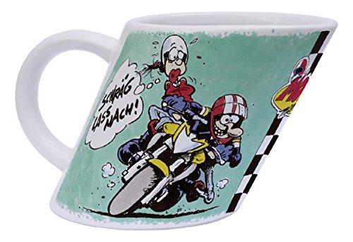 MOTOmania Kaffeetasse/Schräg Design/Becher/Motorradfahrer Geschenkidee
