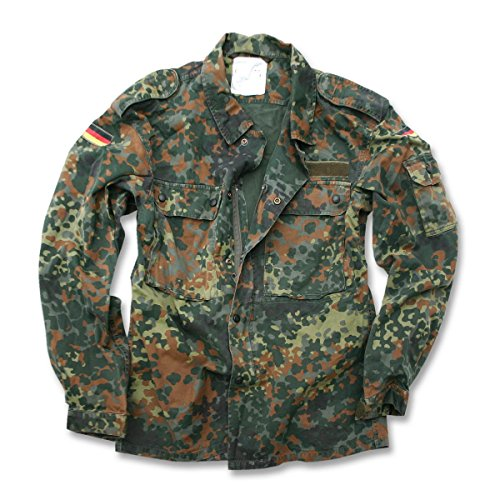 Mil-Tec German Flecktarn Camouflage Pattern Fatigue Field Shirt (42 inch - Short (GR4))