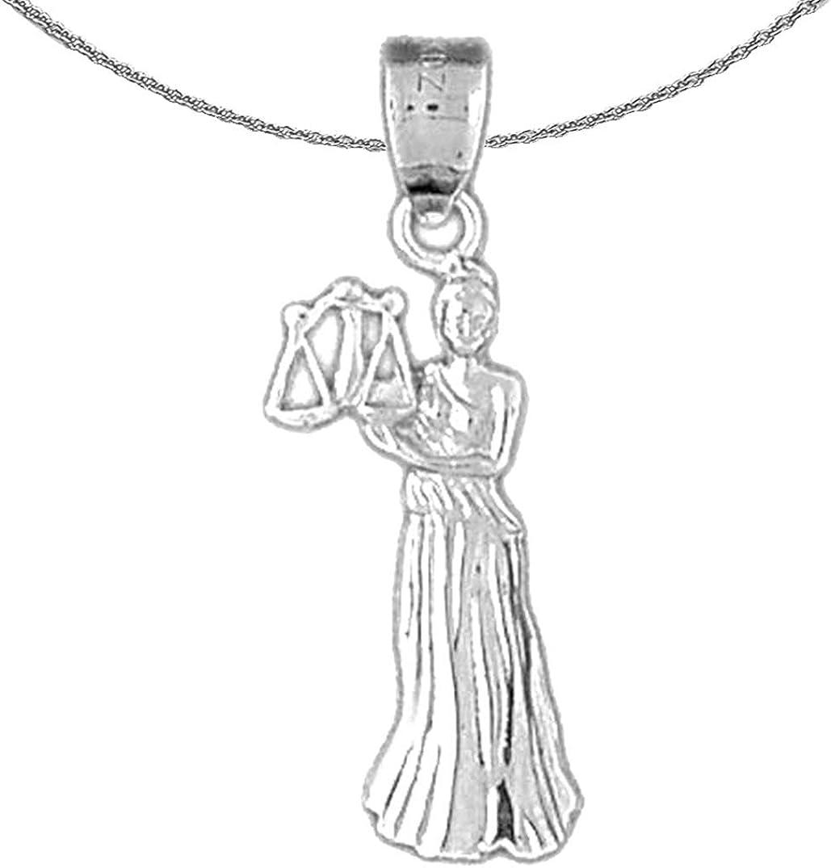 Jewels Obsession Philadelphia Mall Gold Zodiac - Z Libra Necklace 14K White High order