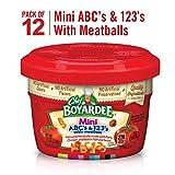 Chef Boyardee Mini-Bites Spaghetti Rings & Meatballs, Mini ABC's & 123's with Meatballs