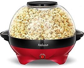 Yabano Machine à Popcorn, Électrique Machine à Pop Corn avec Plateau de Cuisson Détachable, Revêtement Antiadhésif, Bol de...