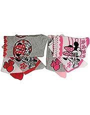 Set di 6 calzini Disney Minnie Mouse in bianco, rosa, grigio con fiori e fiocchi per bambini, bambine e bambini