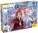 Lisciani Puzzle para niños de 60 piezas 2 en 1, Doble Cara con reverso para colorear - Disney Frozen 2 La Reina de las nieves 65318