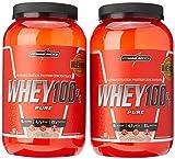kit 2x Whey 100% Pure 907g Morango e Morango Integralmedica