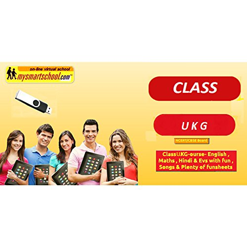 Class UKG CBSE NCERT USB Pendrive Course (Engilsh Maths Hindi Evs) with FUN Songs Plenty of FUNSHEETS