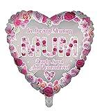 Globos de papel de aluminio de lujo con forma de corazón para recuerdo de la madre, globos funerarios, globos de aluminio para mesa de memoria, conmemoración, condolencia, aniversario